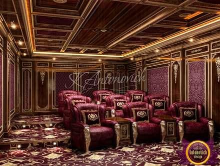 Home Cinema Design by Katrina Antonovich: classic Media room by Luxury Antonovich Design