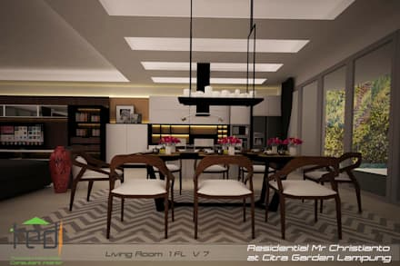 Citra Garden Residence Lampung:  Ruang Makan by PD.Teguh Desain Indonesia