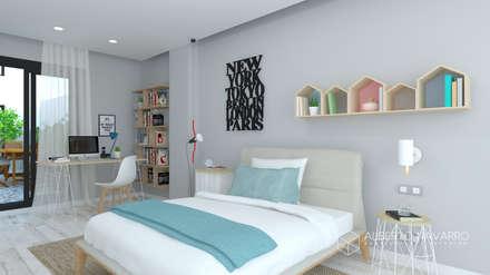 Dormitorio 3: Dormitorios infantiles de estilo mediterráneo de Alberto Navarro Arquitectura Interior