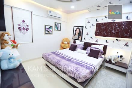 Flat Designed at Aundh of Mr. Satish Tayal:  Girls Bedroom by KAM'S DESIGNER ZONE