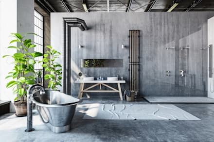 Superieur Bathroom   Industrial Style: Industrial Bathroom By Homify Demonstration  Profile