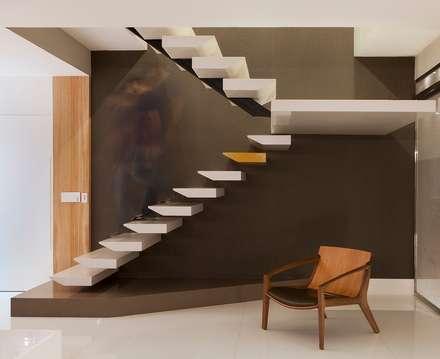 Escada Interna: Corredores, halls e escadas modernos por Maria Dezan Projetos de Interiores e Consultorias