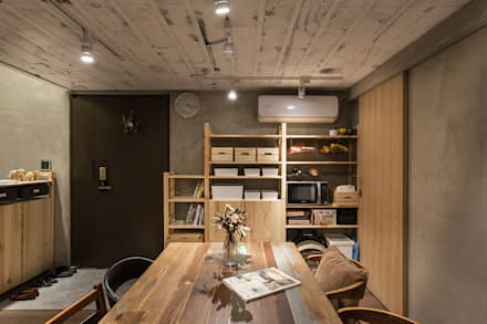 asian Dining room by Z+SQUARE DESIGN / 正工設計