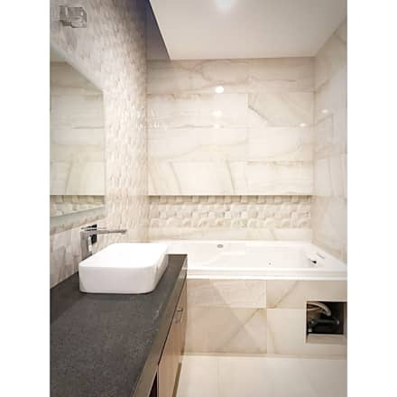 Baño recamara: Baños de estilo  por AParquitectos