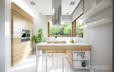 Projekt domu HomeKONCEPT-09: styl , w kategorii Kuchnia zaprojektowany przez HomeKONCEPT | Projekty Domów Nowoczesnych