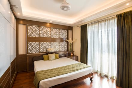 Master Bedroom: colonial Bedroom by VIVEK SHANKAR DESIGN PARTNERSHIP