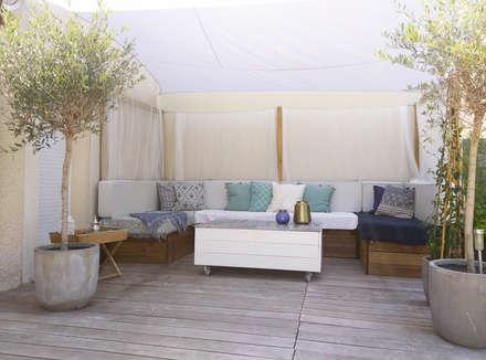 Terrasse : Terrasse de style  par Agence Delphine Coipel