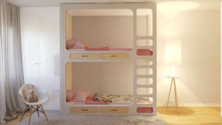 غرفة نوم بنات تنفيذ Mia Arquitetos