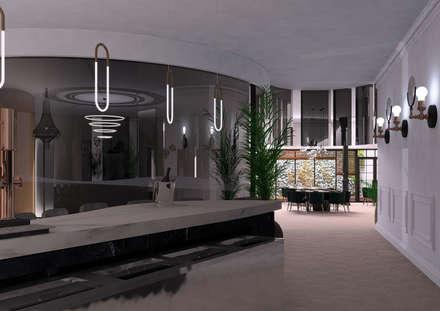 Zona barra-comedor: Bares y Clubs de estilo  de Interiorista M.