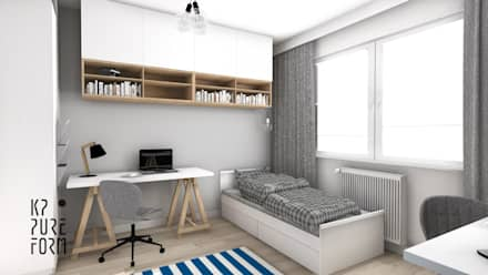Mieszkanie studentów: styl , w kategorii Pokój dziecięcy zaprojektowany przez Katarzyna Piotrowiak Pure Form