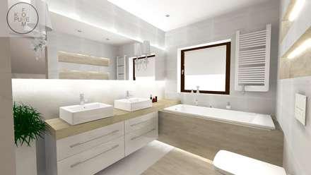 Projekt łazienki - Klasyczna Carrara: styl , w kategorii Łazienka zaprojektowany przez Katarzyna Piotrowiak Pure Form