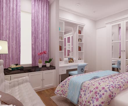 Rumah Tingal Ibu Vonny:  Kamar Bayi & Anak by samma design