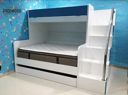 Kiddos Bunk Bed:  Kamar Tidur by The GoodWood Interior Design