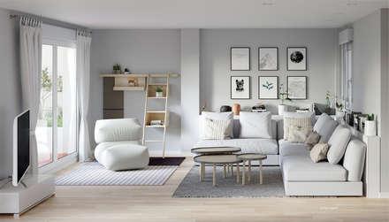 salon: Salas de estilo escandinavo por 3Deko