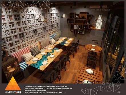 Tầng 1 - Phòng trong view 2:  Phòng ăn by KIẾN TRÚC TÂY HỒ
