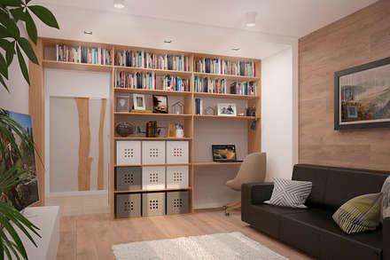 Скандинавский минимализм в гостиной: Гостиная в . Автор – Белый Эскиз