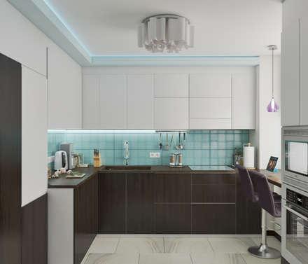 гостиная-кухня : Встроенные кухни в . Автор – Mantra_design