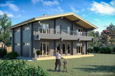 Дом для молодой семьи - 100 м2: Деревянные дома в . Автор – Архитектор Тимофей Раков