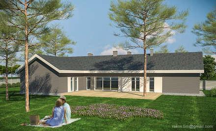 Индивидуальный жилой дом - 230 м2: Деревянные дома в . Автор – Архитектор Тимофей Раков