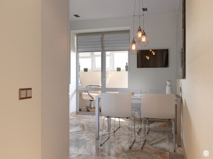 Теплота солнца. Квартира в современном стиле: Кухонные блоки в . Автор – 2GO Design Studio