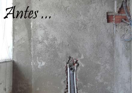 LOFT! resultado _ Olmos 2 _ 2017 _ POLITA proyectos y reformas _ Imanol Osuna Diego: Baños de estilo ecléctico de POLITA proyectos y reformas
