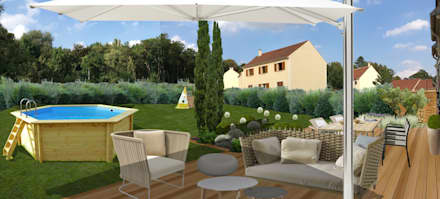 JARDIN PROVENÇAL // Montlignon (95): Jardin de style de style Méditerranéen par Sophie coulon - Architecte Paysagiste