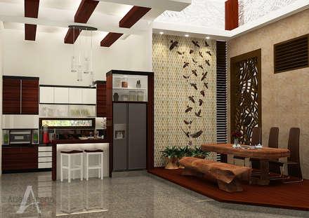 Rumah Bergaya Etnik yang Dikemas Lebih Modern:  Ruang Makan by Adelia Irena