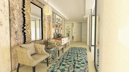 Hall de Entrada: Corredores, halls e escadas modernos por Karoline Martins - Arquitetura & Interiores