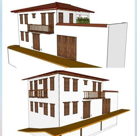 Casa Barichara: Conjunto residencial de estilo  por Heritage Design GROUP