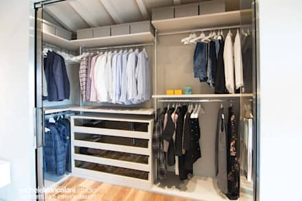 Walk in closet de estilo  por Rachele Biancalani Studio - Architecture & Design
