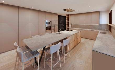 Reforma cocina B&C: Cocinas de estilo moderno de Cáliz Vázquez Arquitectura e Interiorismo