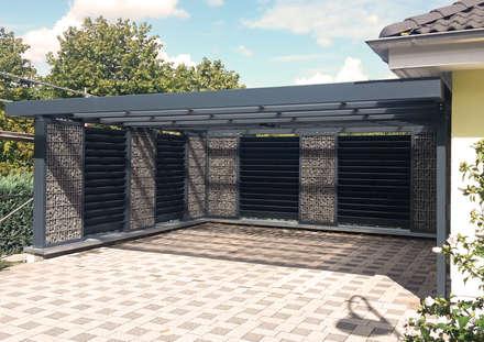 Carport mit geschlossener Rückwand:  Carport von Steelmanufaktur Beyer