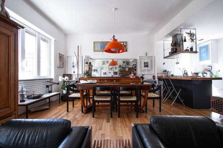 3VM_Ristrutturazione di una casa-atelier d'artista a Como: Sala da pranzo in stile in stile Eclettico di Chantal Forzatti architetto