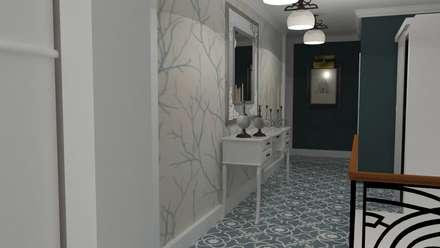 VIVIENDA UNIFAMILIAR : Pasillos y vestíbulos de estilo  de MTD studio and design