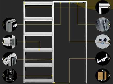 Inbouwframe Evo Kit: moderne Kinderkamer door BestFix-Schuifdeursystemen