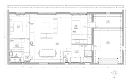 Permis de construire pour une maison avec toit terrasse: Maisons de style de style Moderne par Permettez-moi de construire