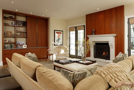 Fire Restoration In Chevy Chase Creates Opportunity For Whole House  Renovation: Classic Living Room By