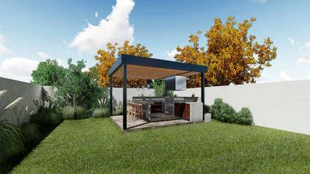 QUINCHO PRE DISEÑADO NEF 01 : Terrazas  de estilo  por NEF Arq.