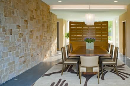 Green Building Features Abound in Bluemont, Virginia Custom Home: modern Dining room by BOWA - Design Build Experts