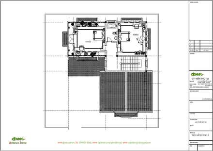 Mặt bằng tầng 3:  Biệt thự by Công ty TNHH Thiết Kế và Ứng Dụng QBEST