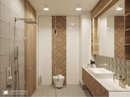 MAKALU: styl , w kategorii Łazienka zaprojektowany przez Ludwinowska Studio Architektury
