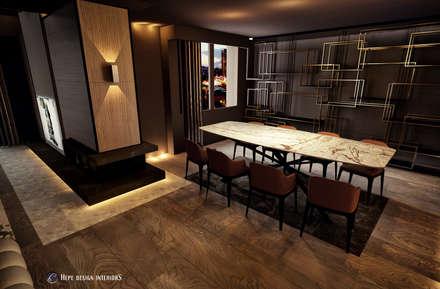 HePe Design interiors – Yemek Alanı: modern tarz Yemek Odası