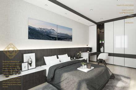Simple design bedroom: modern Bedroom by Enrich Artlife & Interior Design Sdn Bhd