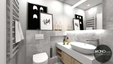 Łazienka w klimacie skandynawskim: styl , w kategorii Łazienka zaprojektowany przez MONOstudio