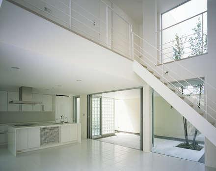 新小岩の家: Studio Noaが手掛けた玄関・廊下・階段です。