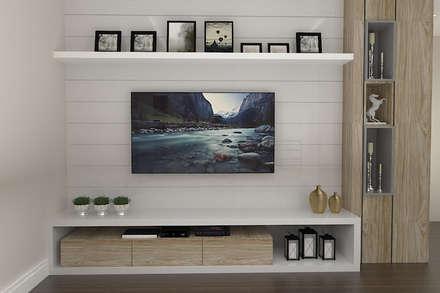 Salas multimedias de estilo  por Leticia De Col Arquitetura e Interiores