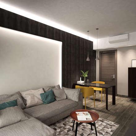 Cadogan   Kennedy Town   Hong Kong: modern Living room by Nelson W Design