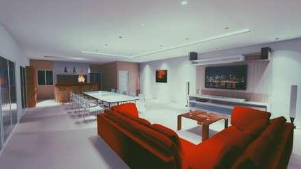 Casa G: Salas multimedia de estilo moderno por Silene Paredes Jara