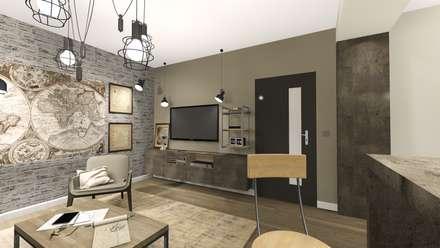 : industrial Living room by KOKON zespół architektoniczny