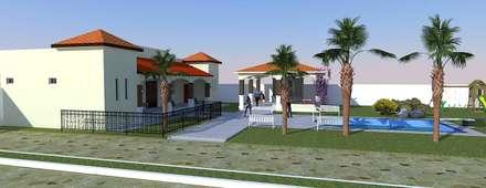 Salones de eventos de estilo  de DAC DISEÑO ARQUITECTURA Y CONSTRUCCION